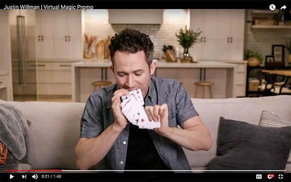 Justin Willman virtual video thumb
